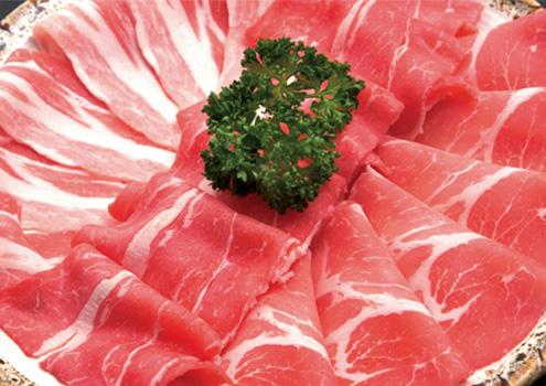 牛ロースと四元豚の盛り合わせ